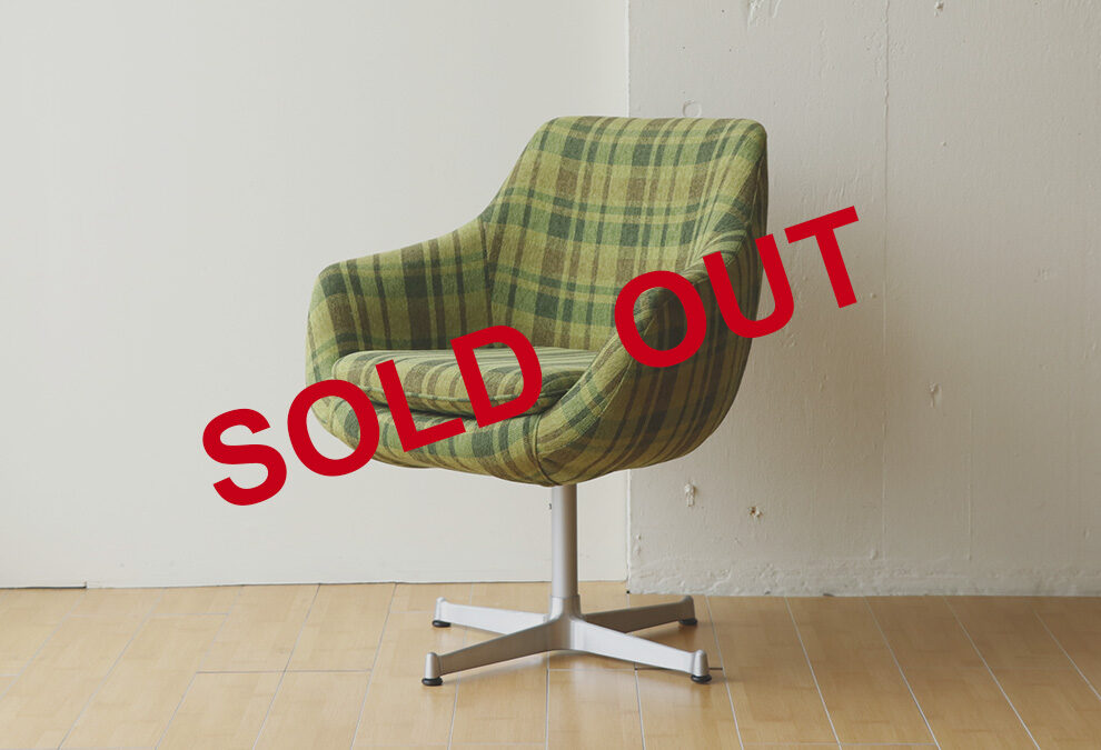 【SOLD OUT】回転チェア グリーン